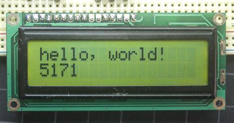 tutorial arduino display lcd arduino helloworld