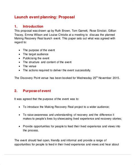 proposal format event management 52 event proposal sles