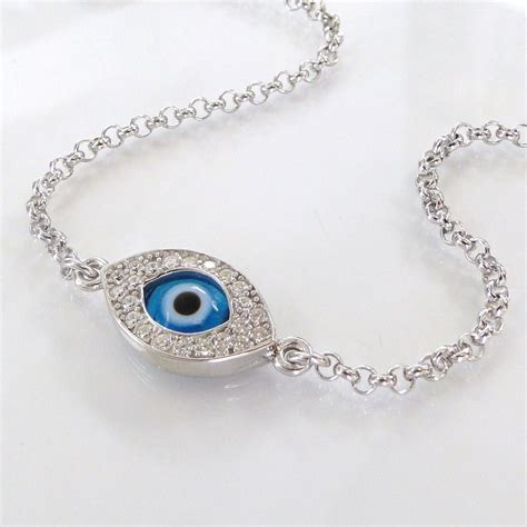 ripa evil eye bracelet in sterling silver
