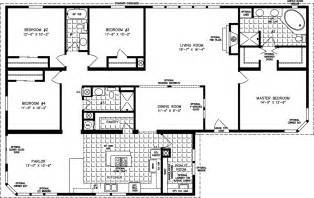 4 bedroom floor plan manufactured homes floor plans jacobsen homes