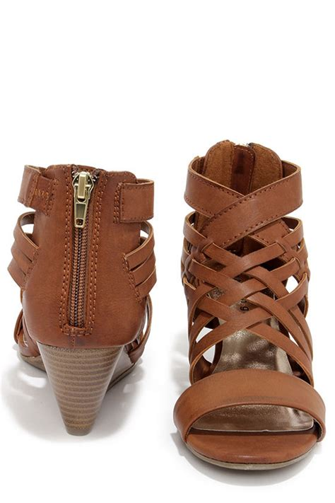 caged wedge sandals brown wedges caged sandals wedge sandals 49 00