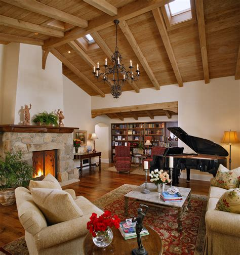 fireplace vaulted ceiling living room traditional with