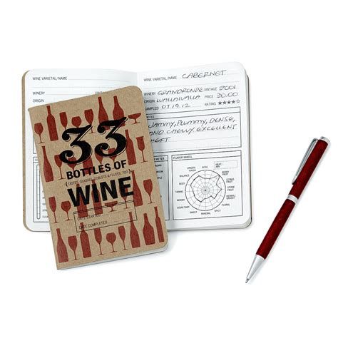 wine diary book wine tasting notebook and pen set wine book journal