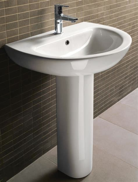 modern curved ceramic pedestal sink by gsi modern