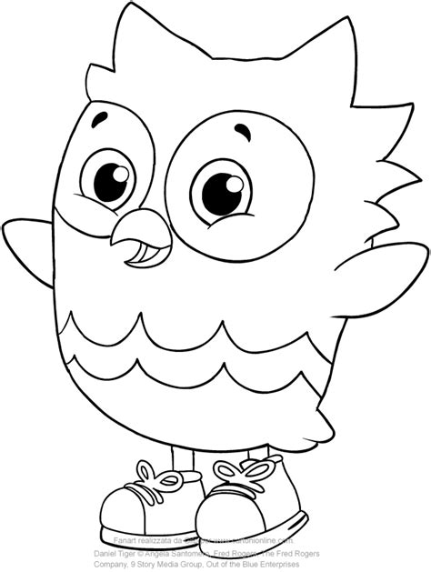 O The Owl Coloring Page by O The Owl Friend Of Daniel Tiger Coloring Pages