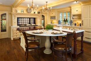 kitchen island table designs 30 kitchen islands with tables a simple but clever combo