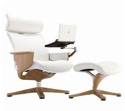 recliner with tablet arm eurotech nuvem white leather reclining executive chair