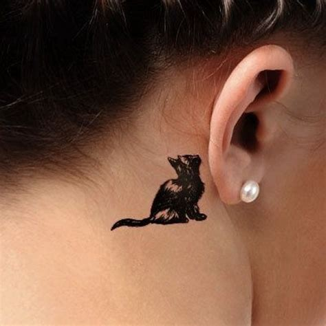small cat tattoo behind ear 70 pretty the ear tattoos for creative juice