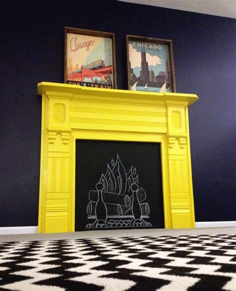 yellow fireplace our yellow fireplace benjaminmoore brightyellow oldnavy