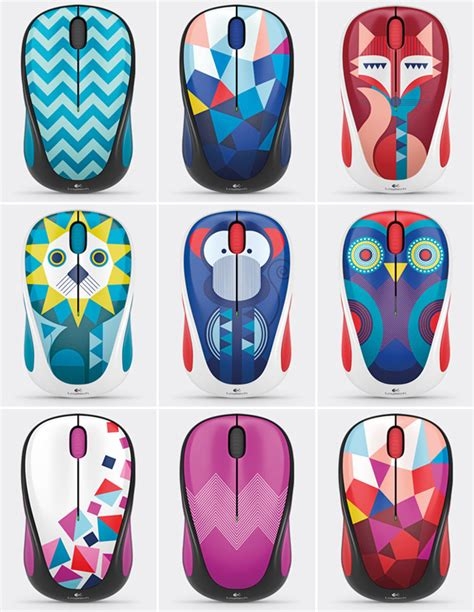 Mouse Wireless Hp Termasuk Baterai logitech m 238 wireless mouse owl fox monkey blue
