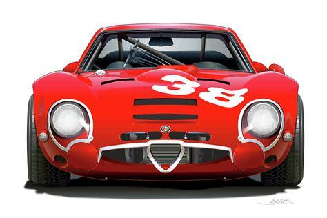 Alfa Romeo Giulia Tz2 by Alfa Romeo Giulia Tz2 Drawing By Alain Jamar