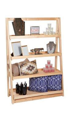 a frame 4 tier wood shelf display store supply