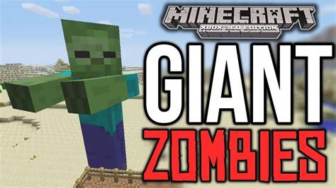 mods in minecraft for xbox minecraft xbox 360 giant zombie mod machinima