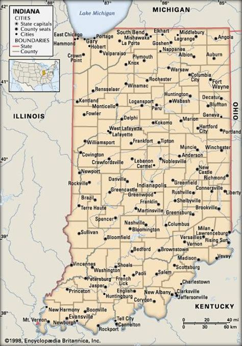 political map of indiana indiana history geography state united states