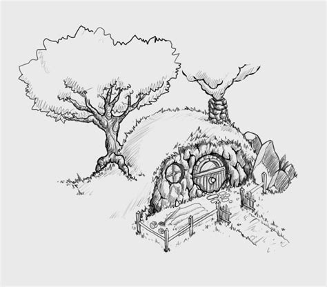 hobbit house coloring page sketch the hobbit trolls coloring pages