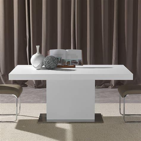 tavolo bianco design tavolo allungabile acciaio e legno per cucina moderna