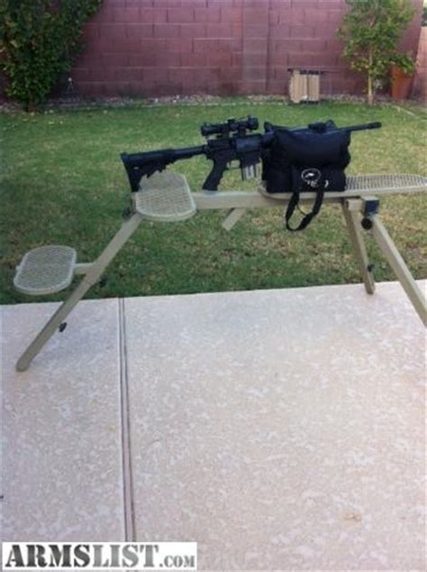 aluminum shooting bench armslist for sale heavy duty shooting bench fully