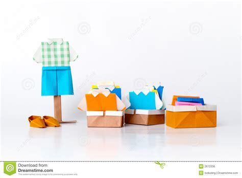 Fashion Origami Set - origami fashion royalty free stock image image 2672336