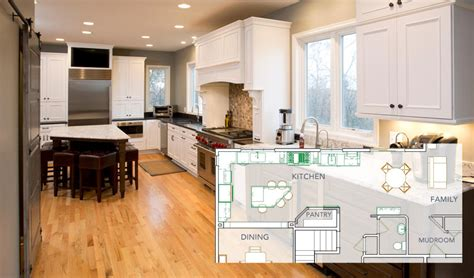 eat in kitchen floor plans 2018 open floor plan kitchen renovations new spaces minnesota remodeler