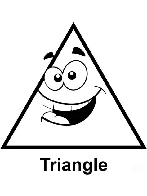 triangles coloring pages free printable triangles