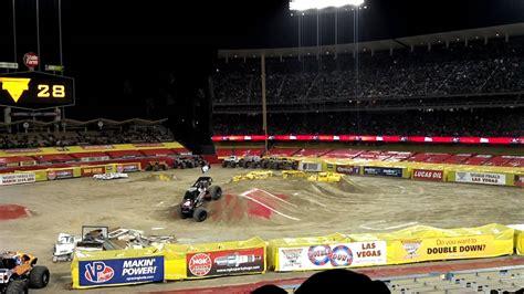 monster truck show at dodger stadium monster jam dodger stadium feb 2012 mulisha