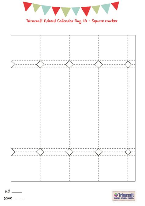 Cracker Template Cards by Trimcraft Advent Calendar Day 19 Free Printable Cracker