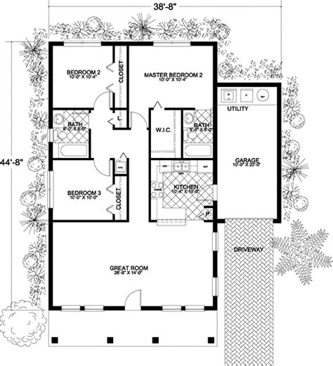 1250 Sq Ft House Plans Traditional House Plan 3 Bedrooms 2 Bath 1250 Sq Ft Plan 37 103