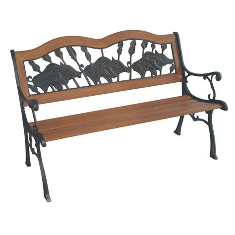 home depot park bench parkland heritage if pigs could fly patio park bench sl2007 pf the home depot