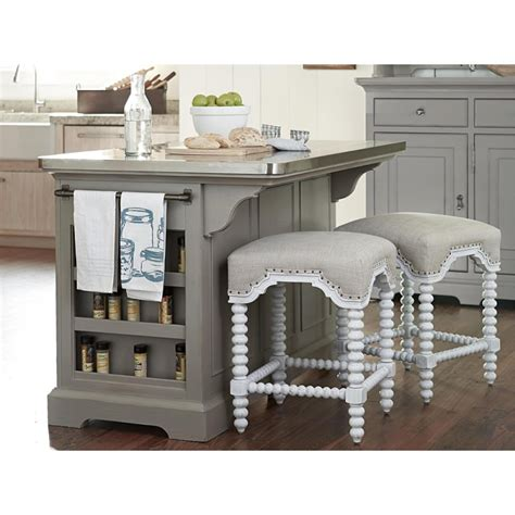 paula deen home dogwood kitchen island with stainless buy the paula deen dogwood the kitchen island uf 599644 at