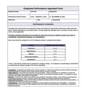 Staff Appraisals Template by Doc 404524 Staff Appraisals Template Doc12401754 Staff