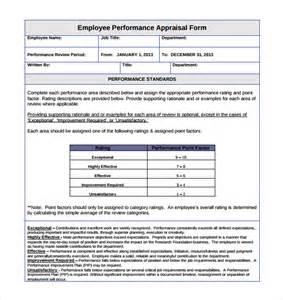 staff appraisal templates doc 404524 staff appraisals template doc12401754 staff