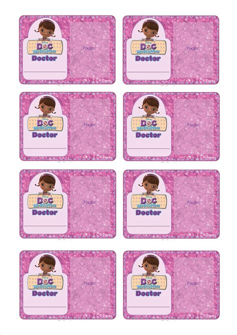 dr name tag template doc mcstuffins birthday moving around