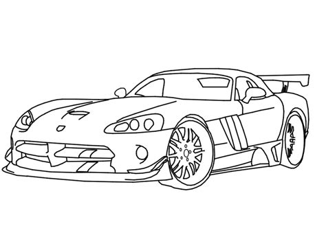 Dodge Cars Drawing Coloring Pages Dodge Viper Coloring Pages