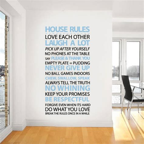 House Rules Design Your Home by Creative And Inspiration Wall Quotes For Bedroom