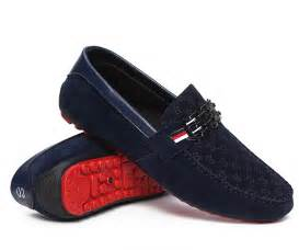 Fashion men suede leather moccasin loafers red bottom men shoes slip
