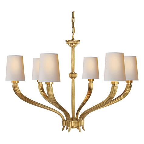 Brass Chandelier Rydell Brass Chandelier Large Luxe Home Company