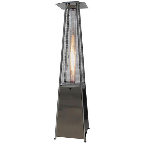 Gardensun Stainless Steel 40 000 Btu Pyramid Flame Stainless Steel Propane Patio Heater