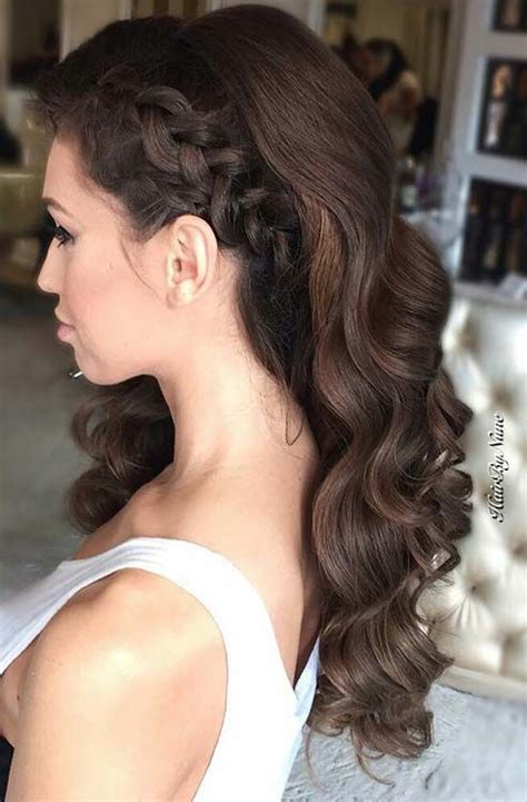 evening hairstyles braids 27 gorgeous prom hairstyles for long hair brunette hair