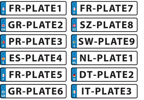 tag european plaque european license plate vectors free vector