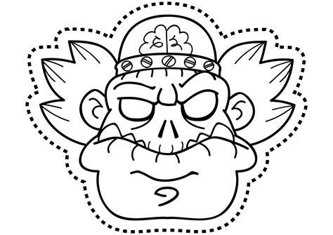 dibujos para colorear de halloween calabazas mascaras carnaval ninos careta zombi dibujos para colorear on line