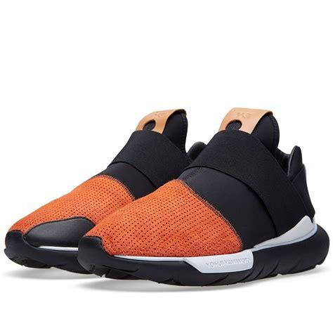 chaussures adidas 2016 adidas y 3 qasa low homme b35676 chaussures sneakers orange noir blanc