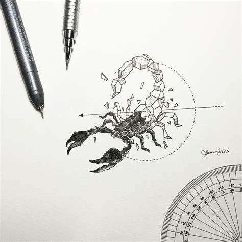 geometric tattoo manila geometric beasts scorpion by kerbyrosanes