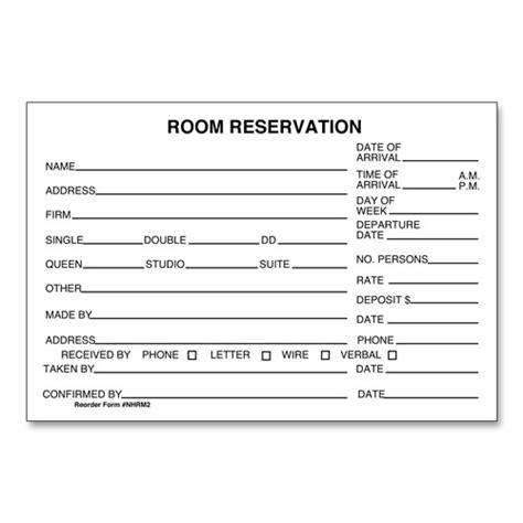 hotel room reservation forms lodgmate
