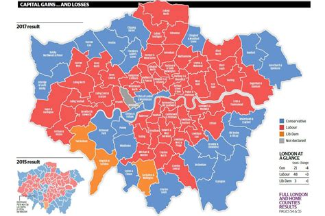 london election results map   capital voted