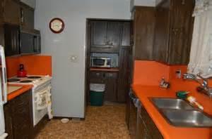bright orange kitchen counters house photos