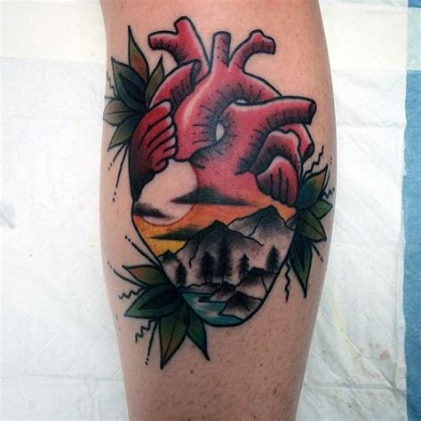 tattoo old school heart 50 traditional heart tattoo designs for men devotion ink