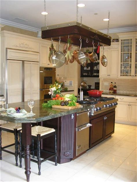 Kitchen Island Hanging Pots Island Stove Kitchen With Hanging Pots And Pans For Our