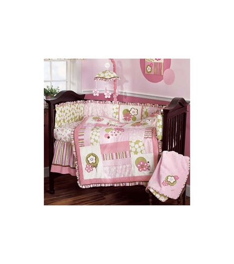 cocalo a la mode 6 piece baby crib bedding set