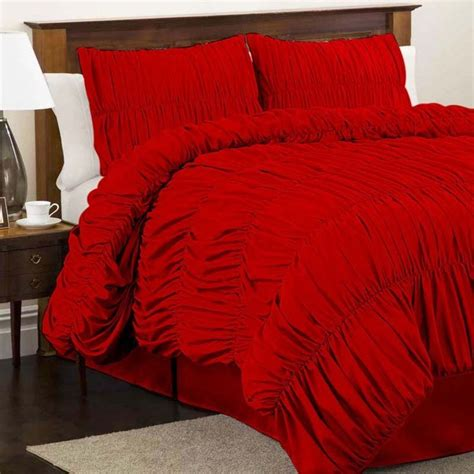 red queen comforter sets red comforter sets queen size lush decor lush decor