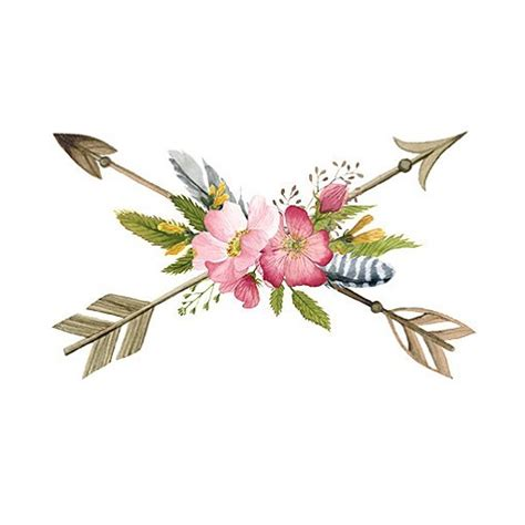 new boho floral arrows temporary tattoo arrowtattoo